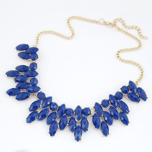 Necklace - Drop Resin Leaf Necklace