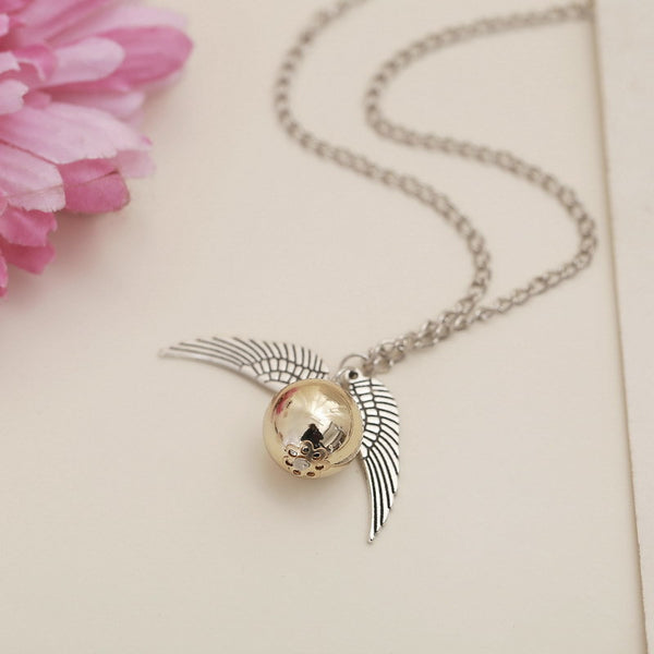 **32% Discount** Harry Potter Gold Wings Necklace
