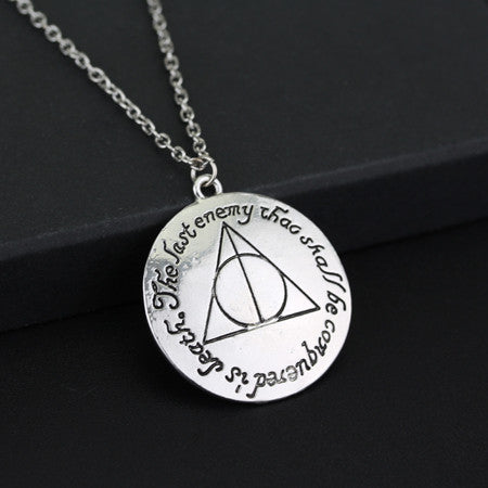 Ron Hermione Silver Plated Pendant Necklace