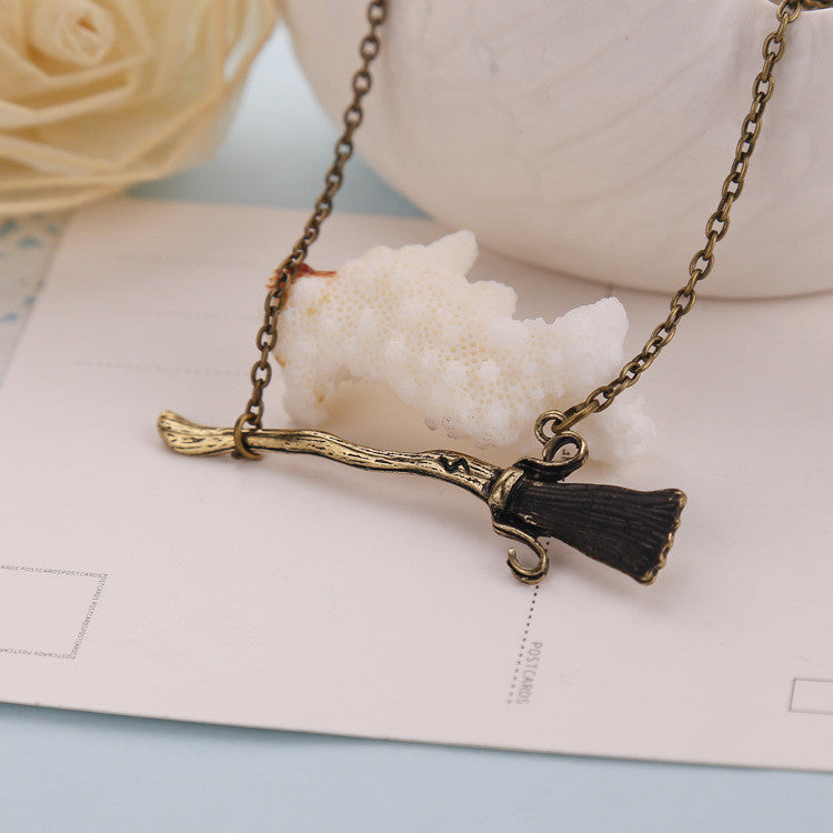 Deathly Hallows Nimbus Broomstick Chain Necklace