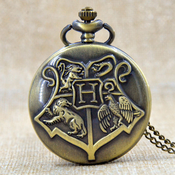 Hogwarts Dracodormiens Nunquam Titillandus Harry Potter Quartz Pocket Watch Mens Analog Pendant Necklace  Gift P250
