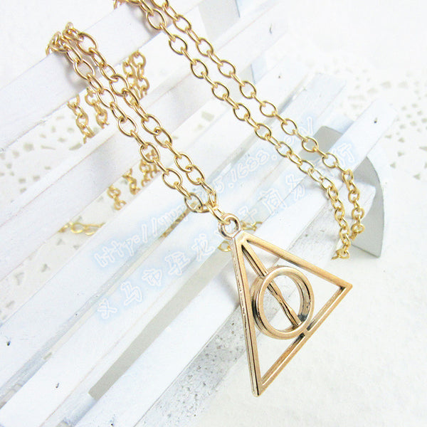 **40% Discount** Harry Potter Hallows Triangle Necklace