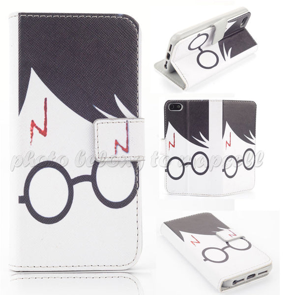 Harry Potter Design Wallet Flip Leather case for iphone 5 5G 5S 5SE case SKC0105