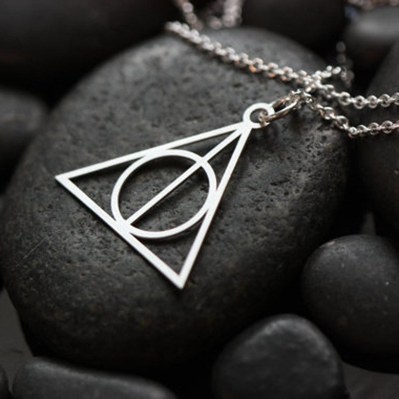 Fashion Pendant Hot Movie Harry Potter -Deathly Hallows fine collares statement maxi Necklace As Gifts Amulet From India