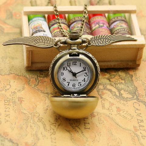 **32% Discount** Harry Potter Bronze Watch Necklace