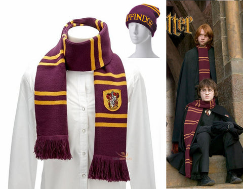 **17% Discount** Gryffindor + Scarf Cap + Gloves 3pcs
