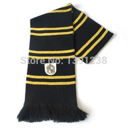 Fashion New Arrival Cosplay New Harry Potter Hufflepuff Thicken Wool Knit Scarf