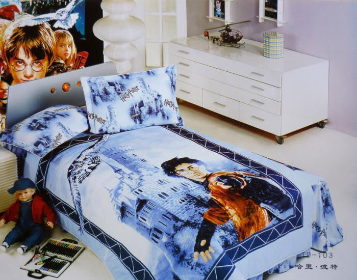Harry .Potter Teen Bedding Sets Twin Full Size Duvet Cover Bed Sheets Home Textiles Sets Children Girls and Boys Bedclothes 3pcs