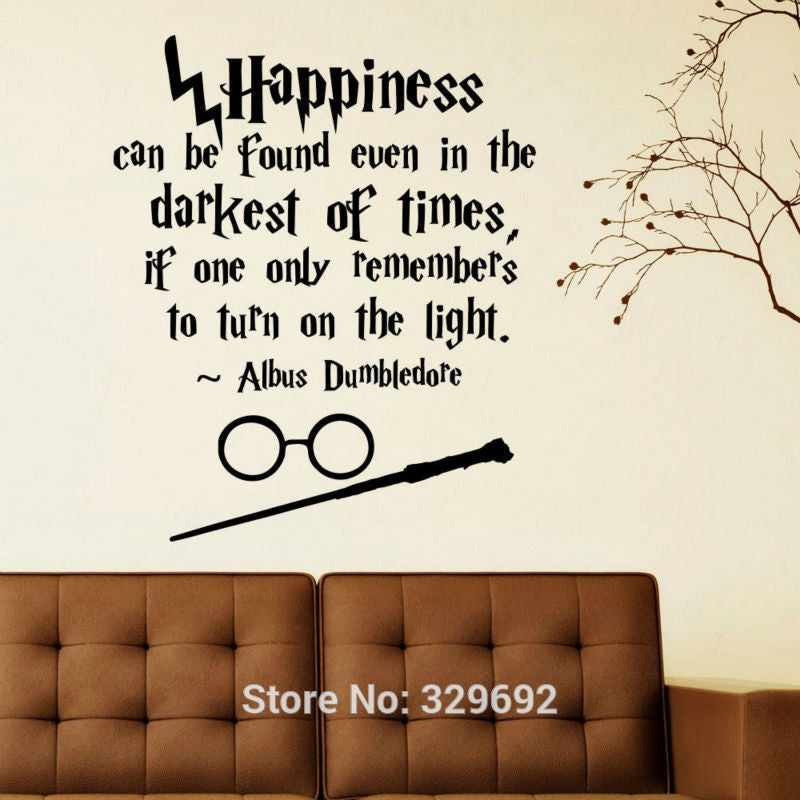 Happiness Can Be Found Even Hogwarts Wall Art Sticker