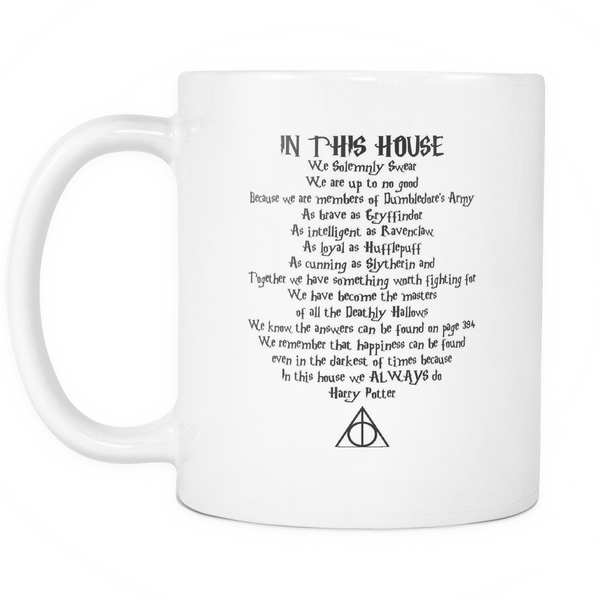 **29% Discount** In This House Quote Mug