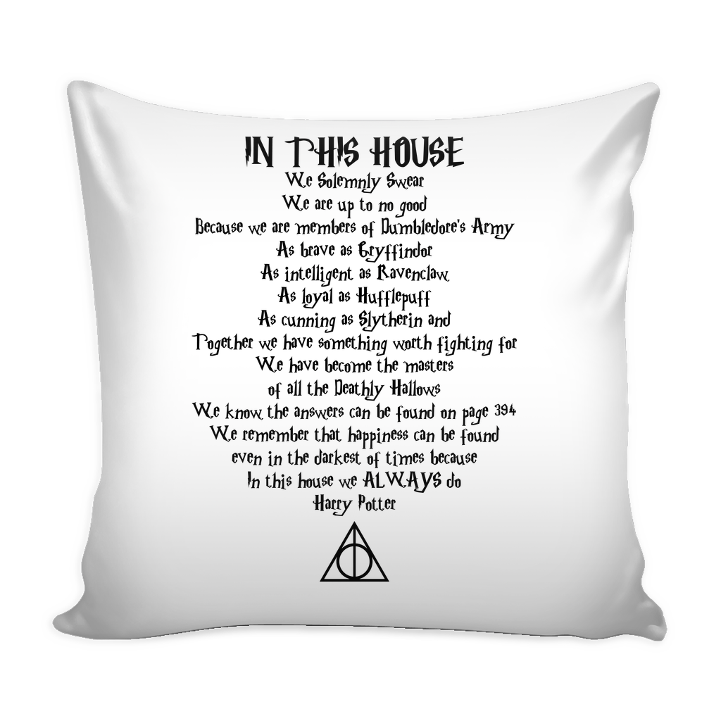 In This House Quote Pillow Cover 16""