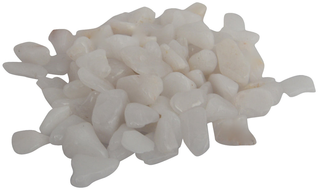 Located in Bangalore, Tile Italia Pebbles is the best option for you to buy chips! We are India's leading supplier and wholesale dealers in pebbles and chips. These White polished chips are great for interiors, landscaping and garden décor. Quirky and colourful they are great as gifts for every occasion. They require low maintenance and are cheap and reasonable. They easily fit into your home décor and enhance beauty of any place.