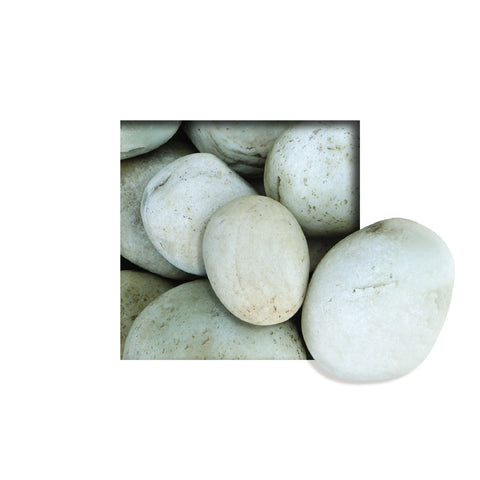 Located in Bangalore, Tile Italia Pebbles is the best option for you to buy natural pebbles! We are India's leading supplier and wholesale dealers in pebbles. These Himalayan Off White pebbles are great for interiors, landscaping and garden décor. Quirky and colorful they are great as gifts for every occasion. They require low maintenance and are cheap and reasonable. They easily fit into your home décor and enhance beauty of any place.