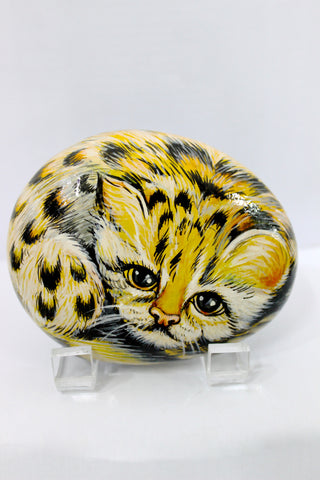 Located in Bangalore, Tile Italia Pebbles is the best option for you to buy painted pebbles! We are India's leading supplier and wholesale dealers in pebbles. This painted pebble Cheetah is great for interiors, landscaping and garden décor. Quirky and colourful they are great as gifts for every occasion. They require low maintenance and are cheap and reasonable. They easily fit into your home décor and enhance beauty of any place.