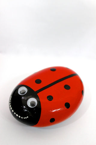 Located in Bangalore, Tile Italia Pebbles is the best option for you to buy painted pebbles! We are India's leading supplier and wholesale dealers in pebbles. This Painted Pebble Ladybird is great for interiors, landscaping and garden décor. Quirky and colourful they are great as gifts for every occasion. They require low maintenance and are cheap and reasonable. They easily fit into your home décor and enhance beauty of any place.