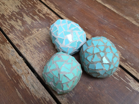 Located in Bangalore, Tile Italia Pebbles is the best option for you to buy Mosaic pebbles! We are India's leading supplier and wholesale dealers in pebbles. These Mosaic Aqua Blue Balls are great for interiors, landscaping and garden décor. Quirky and colourful they are great as gifts for every occasion. They require low maintenance and are cheap and reasonable. They easily fit into your home décor and enhance beauty of any place.