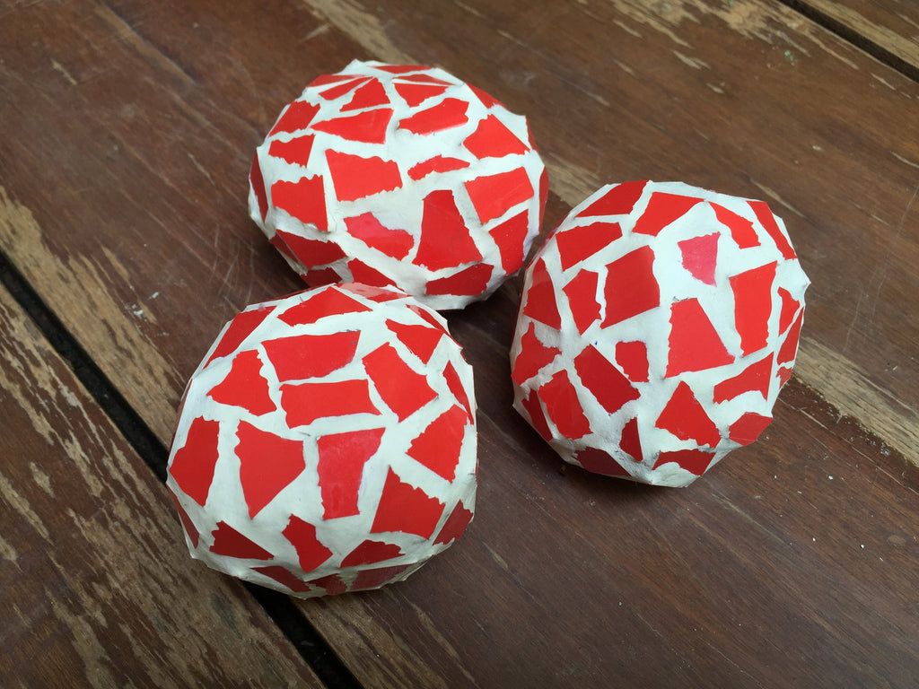 Located in Bangalore, Tile Italia Pebbles is the best option for you to buy Mosaic pebbles! We are India's leading supplier and wholesale dealers in pebbles. These Mosaic Red Balls are great for interiors, landscaping and garden décor. Quirky and colourful they are great as gifts for every occasion. They require low maintenance and are cheap and reasonable. They easily fit into your home décor and enhance beauty of any place.