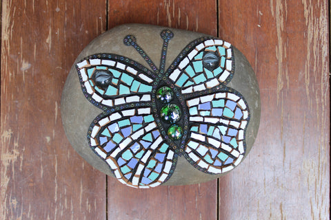 Located in Bangalore, Tile Italia Pebbles is the best option for you to buy Mosaic pebbles! We are India's leading supplier and wholesale dealers in pebbles. These Mosaic Teal Butterfly pebbles are great for interiors, landscaping and garden décor. Quirky and colourful they are great as gifts for every occasion. They require low maintenance and are cheap and reasonable. They easily fit into your home décor and enhance beauty of any place.