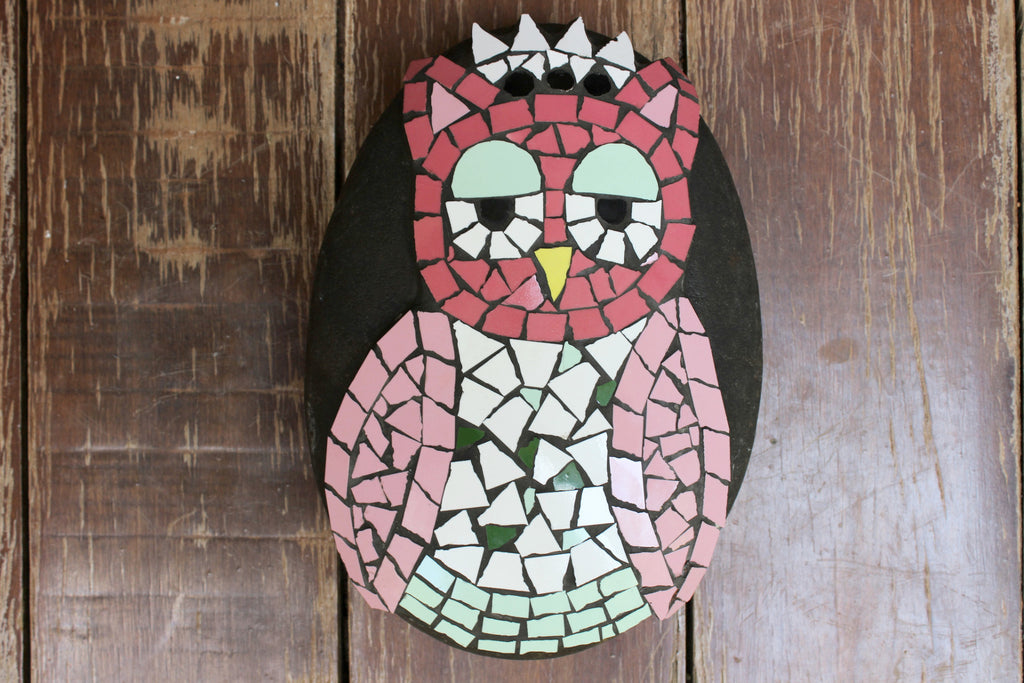 Located in Bangalore, Tile Italia Pebbles is the best option for you to buy Mosaic pebbles! We are India's leading supplier and wholesale dealers in pebbles. These Mosaic Pink Owl pebbles are great for interiors, landscaping and garden décor. Quirky and colourful they are great as gifts for every occasion. They require low maintenance and are cheap and reasonable. They easily fit into your home décor and enhance beauty of any place.