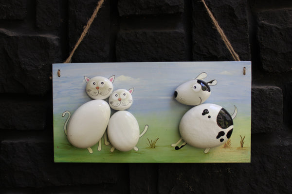 Located in Bangalore, Tile Italia Pebbles is the best option for you to buy painted pebbles! We are India's leading supplier and wholesale dealers in pebbles. This Painted Pebble Portrait- Cats & Dogs is great for interiors, landscaping and garden décor. Quirky and colourful they are great as gifts for every occasion. They require low maintenance and are cheap and reasonable. They easily fit into your home décor and enhance beauty of any place.