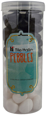 Located in Bangalore, Tile Italia Pebbles is the best option for you to buy pebbles! We are India's leading supplier and wholesale dealers in pebbles. These White & Black polished pebbles are great for interiors, landscaping and garden décor. Quirky and colourful they are great as gifts for every occasion. They require low maintenance and are cheap and reasonable. They easily fit into your home décor and enhance beauty of any place.