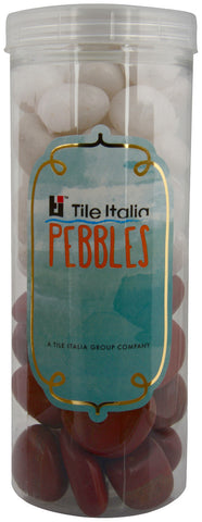 Located in Bangalore, Tile Italia Pebbles is the best option for you to buy pebbles! We are India's leading supplier and wholesale dealers in pebbles. These White & Jasper polished pebbles are great for interiors, landscaping and garden décor. Quirky and colourful they are great as gifts for every occasion. They require low maintenance and are cheap and reasonable. They easily fit into your home décor and enhance beauty of any place.