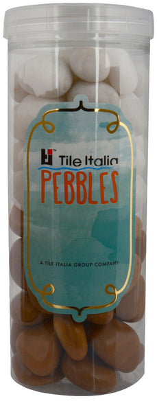 Located in Bangalore, Tile Italia Pebbles is the best option for you to buy pebbles! We are India's leading supplier and wholesale dealers in pebbles. These White & Jaisalmer polished pebbles are great for interiors, landscaping and garden décor. Quirky and colourful they are great as gifts for every occasion. They require low maintenance and are cheap and reasonable. They easily fit into your home décor and enhance beauty of any place.