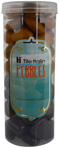 Located in Bangalore, Tile Italia Pebbles is the best option for you to buy pebbles! We are India's leading supplier and wholesale dealers in pebbles. These Black & Jaisalmer polished pebbles are great for interiors, landscaping and garden décor. Quirky and colourful they are great as gifts for every occasion. They require low maintenance and are cheap and reasonable. They easily fit into your home décor and enhance beauty of any place.