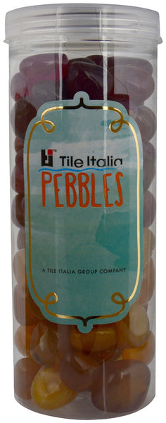 Located in Bangalore, Tile Italia Pebbles is the best option for you to buy pebbles! We are India's leading supplier and wholesale dealers in pebbles. These Onyx Garnet & Onyx Yellow polished pebbles are great for interiors, landscaping and garden décor. Quirky and colourful they are great as gifts for every occasion. They require low maintenance and are cheap and reasonable. They easily fit into your home décor and enhance beauty of any place.