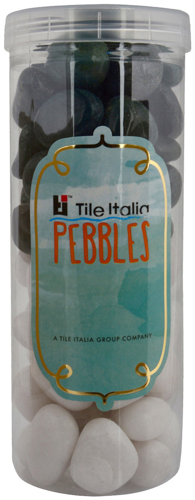 Located in Bangalore, Tile Italia Pebbles is the best option for you to buy pebbles! We are India's leading supplier and wholesale dealers in pebbles. These White & Dark Green polished pebbles are great for interiors, landscaping and garden décor. Quirky and colourful they are great as gifts for every occasion. They require low maintenance and are cheap and reasonable. They easily fit into your home décor and enhance beauty of any place.
