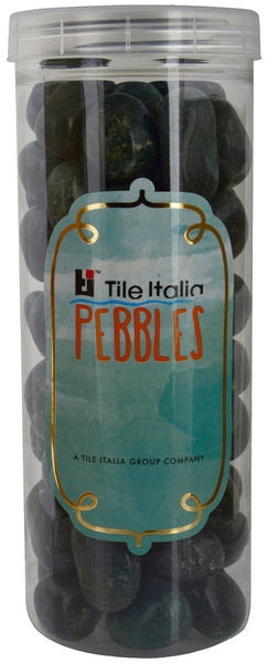 Located in Bangalore, Tile Italia Pebbles is the best option for you to buy pebbles! We are India's leading supplier and wholesale dealers in pebbles. These dark green polished pebbles are great for interiors, landscaping and garden décor. Quirky and colourful they are great as gifts for every occasion. They require low maintenance and are cheap and reasonable. They easily fit into your home décor and enhance beauty of any place. They are widely used in aquariums as well.