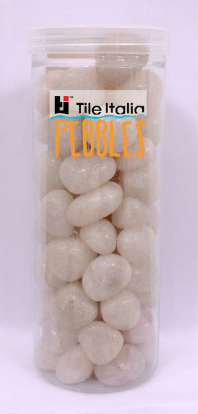 Located in Bangalore, Tile Italia Pebbles is the best option for you to buy pebbles! We are India's leading supplier and wholesale dealers in pebbles. These rose quartz pebbles are great for interiors, landscaping and garden décor. Quirky and colourful they are great as gifts for every occasion. They require low maintenance and are cheap and reasonable. They easily fit into your home décor and enhance beauty of any place. They are widely used in aquariums as well.