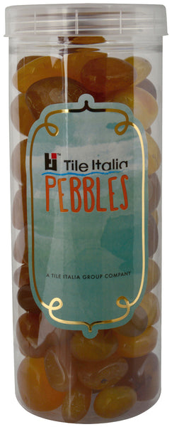 Located in Bangalore, Tile Italia Pebbles is the best option for you to buy pebbles! We are India's leading supplier and wholesale dealers in pebbles. These onyx yellow polished pebbles are great for interiors, landscaping and garden décor. Quirky and colourful they are great as gifts for every occasion. They require low maintenance and are cheap and reasonable. They easily fit into your home décor and enhance beauty of any place.