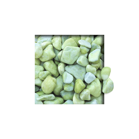 Located in Bangalore, Tile Italia Pebbles is the best option for you to buy tumbled pebbles! We are India's leading supplier and wholesale dealers in pebbles. These Lemon Yellow Tumbled pebbles are great for interiors, landscaping and garden décor. Quirky and colorful they are great as gifts for every occasion. They require low maintenance and are cheap and reasonable. They easily fit into your home décor and enhance beauty of any place.