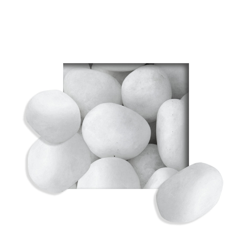 Located in Bangalore, Tile Italia Pebbles is the best option for you to buy tumbled pebbles! We are India's leading supplier and wholesale dealers in pebbles. These White Tumbled pebbles are great for interiors, landscaping and garden décor. Quirky and colorful they are great as gifts for every occasion. They require low maintenance and are cheap and reasonable. They easily fit into your home décor and enhance beauty of any place.