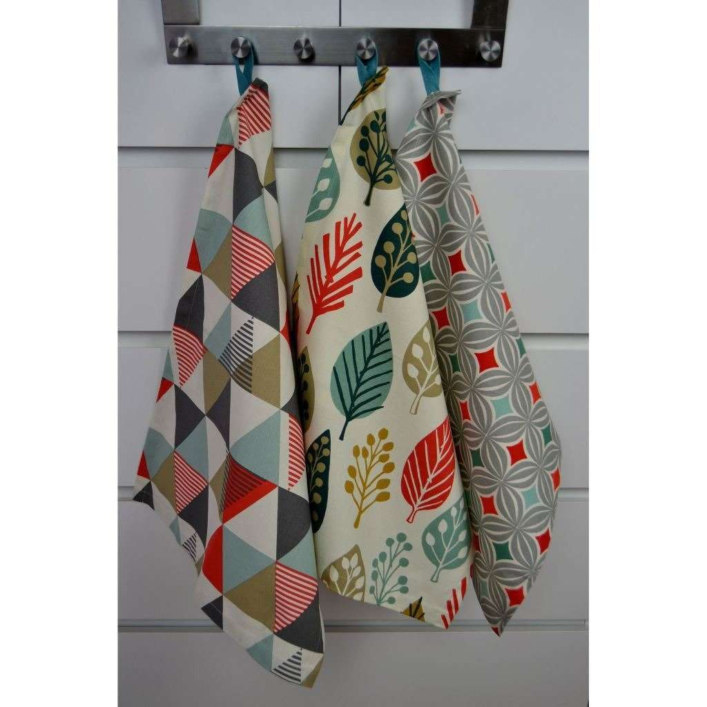 McAlister Textiles Magda Burnt Orange Cotton Tea Towel Set Kitchen Accessories