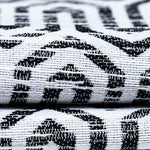 Load image into Gallery viewer, McAlister Textiles Costa Rica Black + White Abstract Pillow Pillow