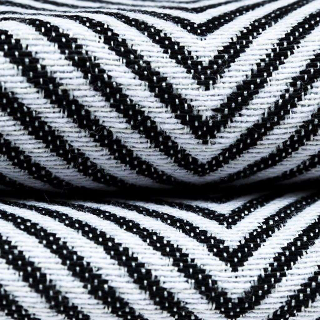 McAlister Textiles Herringbone Twill Black + White Abstract Pillow Pillow