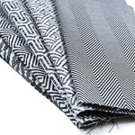 Load image into Gallery viewer, McAlister Textiles Herringbone Twill Black + White Roman Blind Roman Blinds