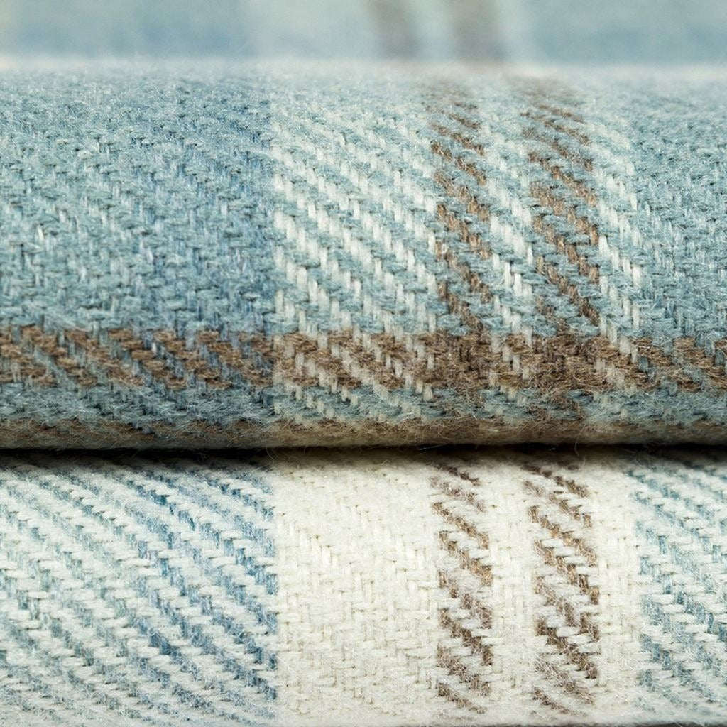 McAlister Textiles Angus Duck Egg Blue Tartan Table Runner Throws and Runners