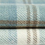 Carica l'immagine nel visualizzatore di Gallery, McAlister Textiles Angus Duck Egg Blue Tartan Throw Throws and Runners