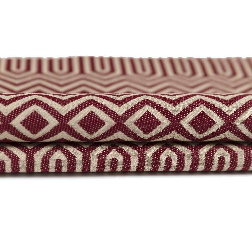 McAlister Textiles Colorado Geometric Red Roman Blind Roman Blinds