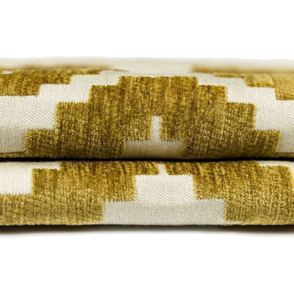 McAlister Textiles Arizona Geometric Yellow Roman Blind Roman Blinds