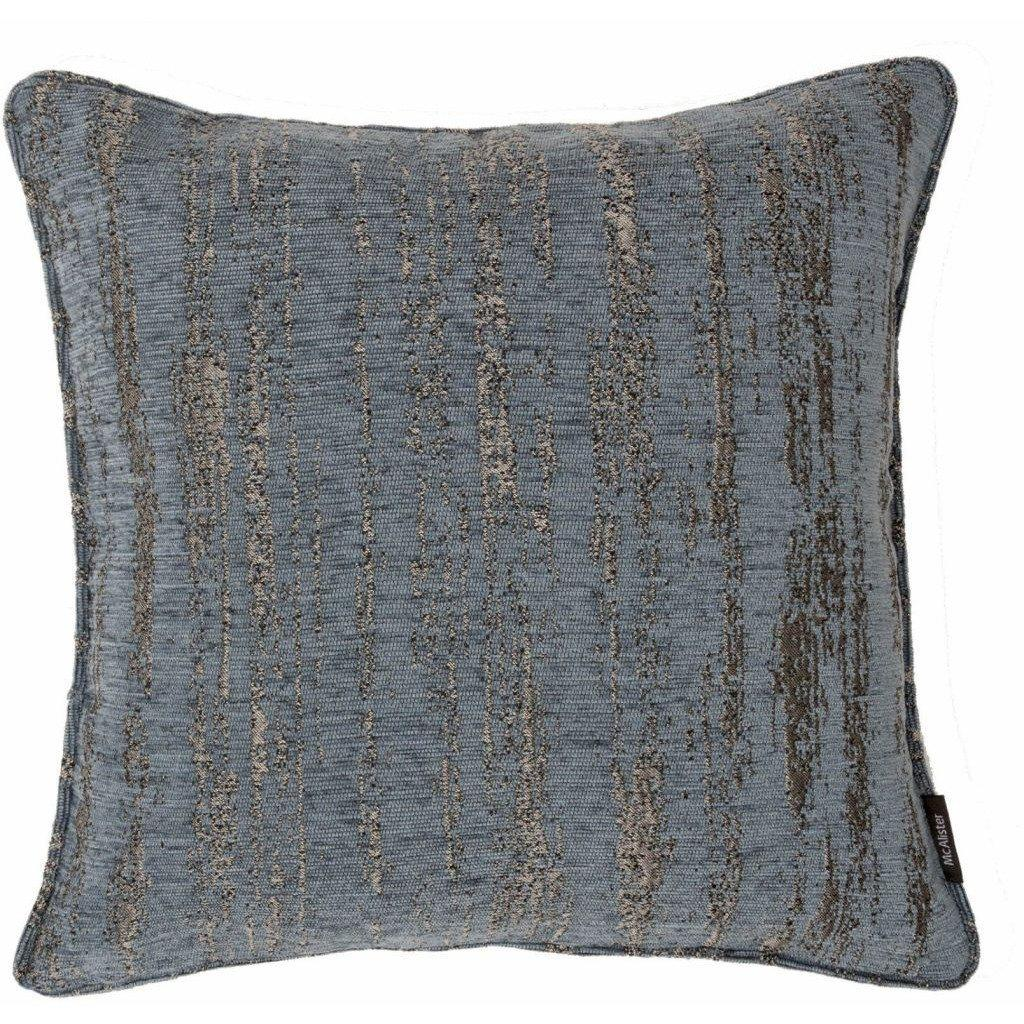 McAlister Textiles Textured Chenille Denim Blue Cushion Cushions and Covers Polyester Filler 49cm x 49cm
