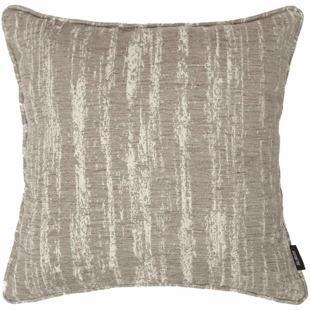 McAlister Textiles Textured Chenille Silver Grey Cushion Cushions and Covers Polyester Filler 49cm x 49cm