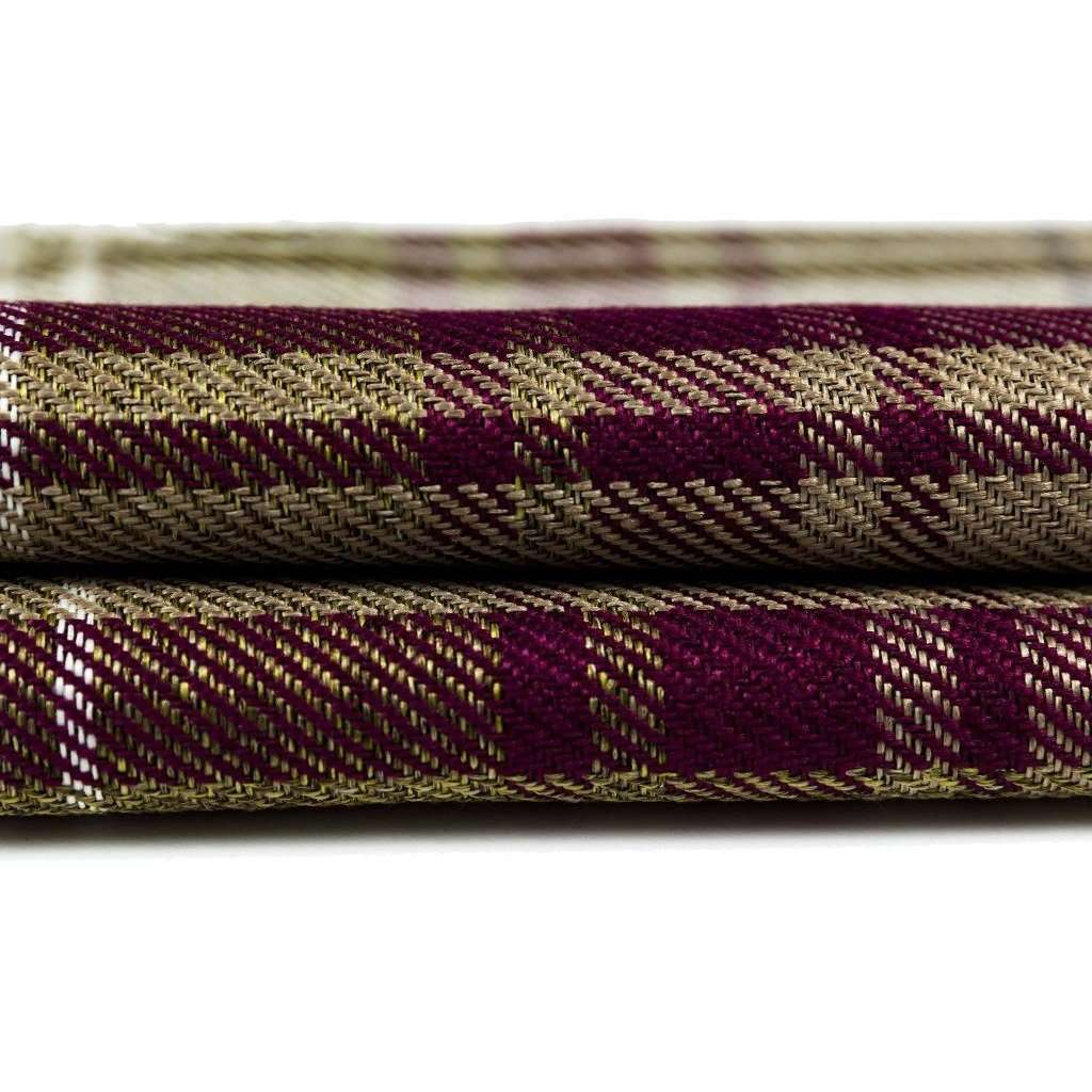 McAlister Textiles Angus Purple + Green Tartan Throw Throws and Runners