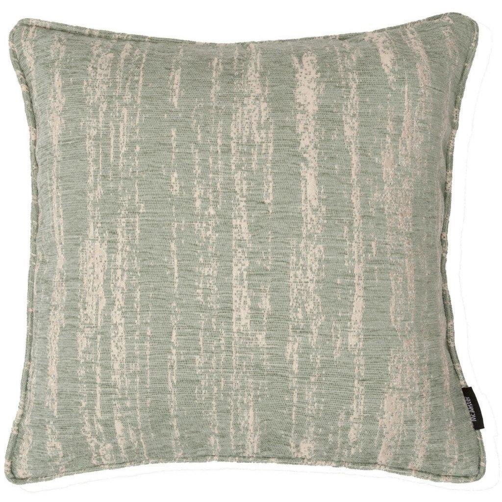 McAlister Textiles Textured Chenille Duck Egg Blue Cushion Cushions and Covers Polyester Filler 49cm x 49cm