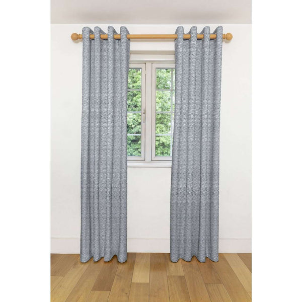 "McAlister Textiles Costa Rica Black + White Curtains Tailored Curtains 116cm(w) x 182cm(d) (46"" x 72"")"