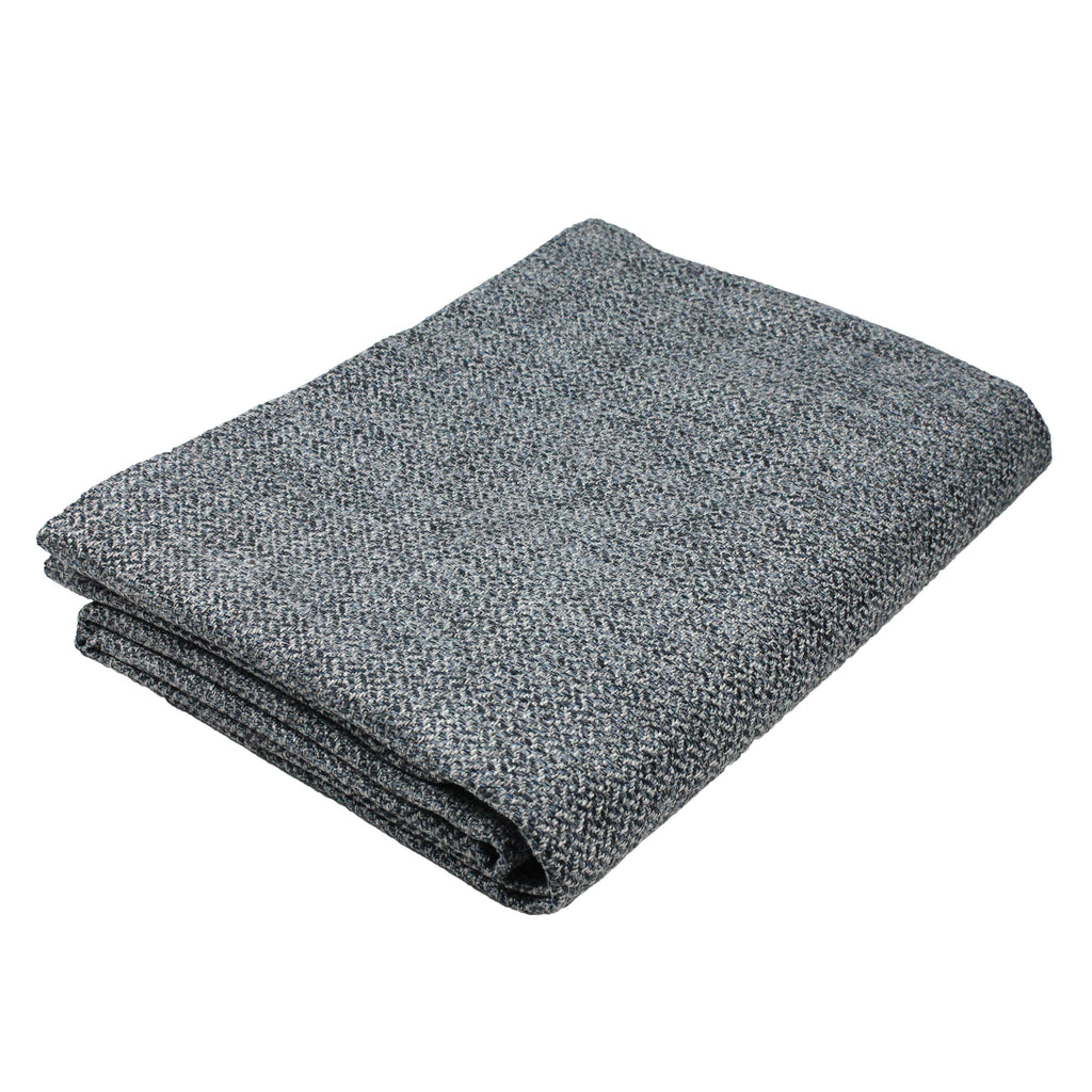 McAlister Textiles Harris Tweed Throws and Runners - Blue & Grey Throws and Runners Bed Runner (50cm x 240cm)