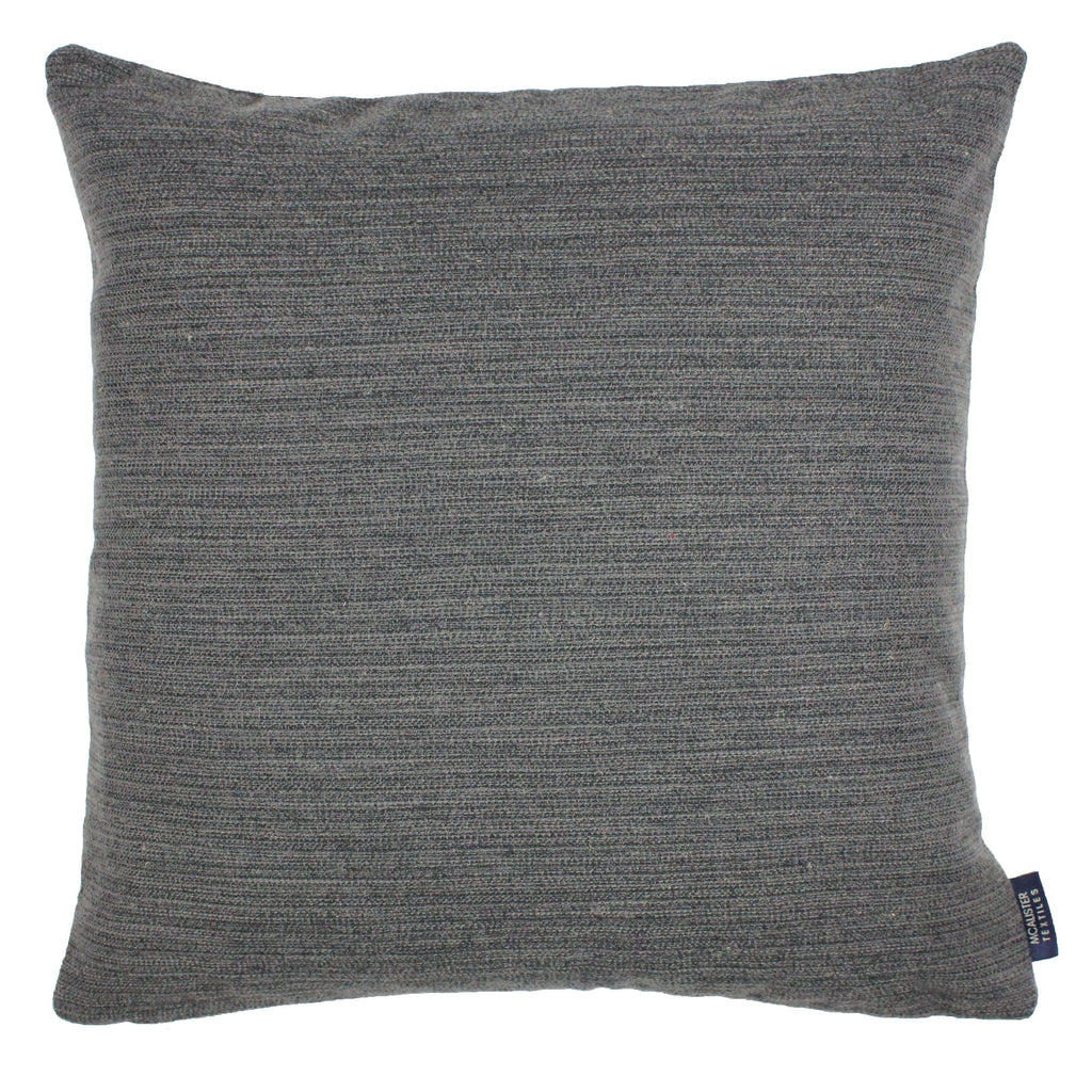 McAlister Textiles Hamleton Charcoal Grey Textured Plain Cushion Cushions and Covers Cover Only 49cm x 49cm